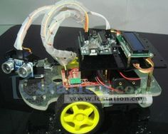 Remote Control Ranging Car Smart Car Kit Intelligent Car for Arduino  http://www.icstation.com/product_info.php?products_id=2533