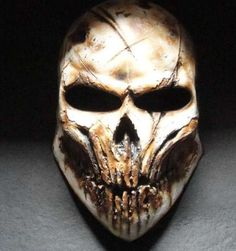Haunting Gamer Helmets - Become a Demonic Monster with these Paintball Mask Designs (GALLERY) Army Of Two, Haunted Games, Crane, Paintball Gear, Cool Masks, Awesome Masks, Creepy Masks, Totenkopf Tattoos, Airsoft Helmet