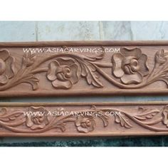MLD-09: Relief Carved Rose and Leaf Mouldings