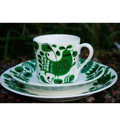 Coffe cup Turtur by Stig Lindberg, Gustavsbergs Porslinsfabrik 1972-74 is now being produced again.