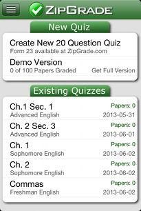 Answer Sheets : ZipGrade