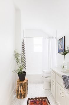 dreamy, all-white bathroom