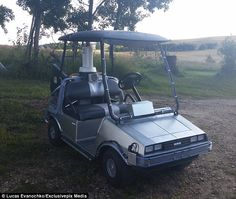 Auto enthusiasts have built their very own version of the iconic time-travelling car - only this time, in the form of a 'DeLorean' golf cart