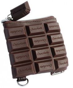 Chocolate Candy Bar Style Scented Coin Purse by deccac Unique Purses, Unique Bags, Cute Purses, Handbags On Sale, Luxury Handbags, Purses And Handbags, Mode Bizarre, Novelty Bags, Cute Bags