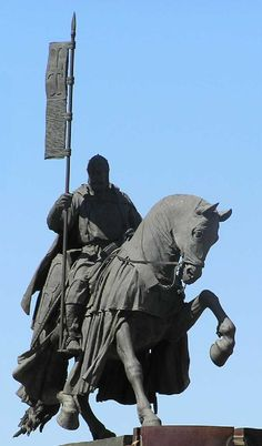 Equestrian Statue of a Templar Knight - Ponferrada , Spain. Knights Hospitaller, Knights Templar, Knight Orders, Equestrian Statue, Medieval Knight, Chivalry, Paladin, Roman Empire, Middle Ages