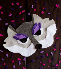 DIY Halloween Mask | No-Sew Wolf Mask | Confetti Pop