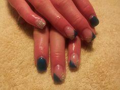Blue and silver - Amore Ultima Gel  #nail #nails #nailart
