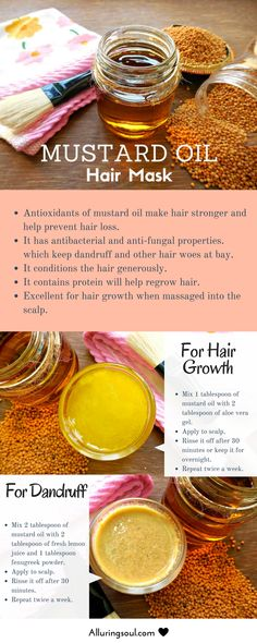 Mustard Oil for hair is the ancient way of healing many hair woes. It nourishes hair and treats dandruff & promotes hair growth due to medicinal properties.
