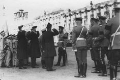 Nicholas inspects cadets - May 1910.