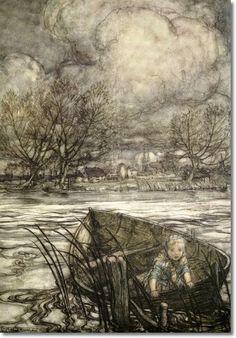 Arthur Rackham - Hans Andersens The Snow Queen 1913 - Adrift
