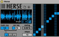 Herse | Ableton Drop Herse in your track and manipulate audio in real time. Herse is a slicing multi-effect that lets you rearrange your signal and apply a defined amount of effect to each slice.