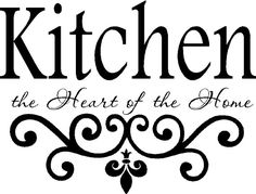 Kitchen Wall Quote Vinyl Decal Lettering Decor by landbgraphics, $24.99