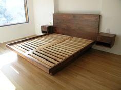 floating platform bed plans - Google Search