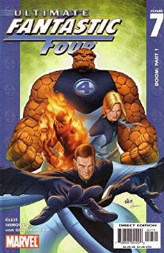 Ultimate Fantastic Four, Vol. 1 # by Stuart Immonen and Laura Martin. Marvel Comics Art, Marvel Heroes, Marvel Characters, Marvel Avengers, Ms Marvel, Captain Marvel, Fantastic Four Comics, Mister Fantastic, The Thing Fantastic Four