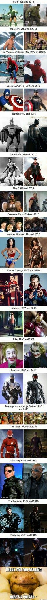 Superhéroes antes y ahora