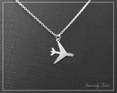 Not All Who Wander Are Lost Plane Necklace by SincerelySilverShop Sterling Silver Chains, 925 Silver, Jewelery, Jewelry Necklaces, Space Jewelry, Pretty Necklaces, Silver Pendants, Travel Accessories, Bling