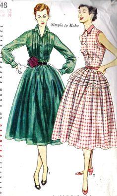 1950s Misses Shirtwaist Dress
