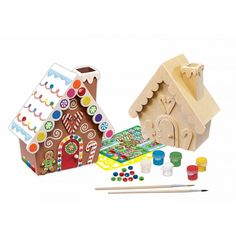 Works of Ahhh Gingerbread House Paint Kit - Christmas Gifts - Pockets of Passion