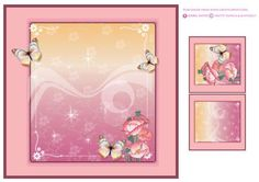 Pretty Poppies & Butterfly Insert by Isabel Neves Pretty Poppies & Butterfly Insert includes: Card Insert and Mini Print & Fold Card also may be used as Gift/Bags Tags  Compliment To Pretty Poppies & Butterfly Card Front Topper