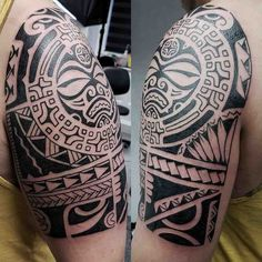 polynesian tattoo on shoulder #marquesantattoosink