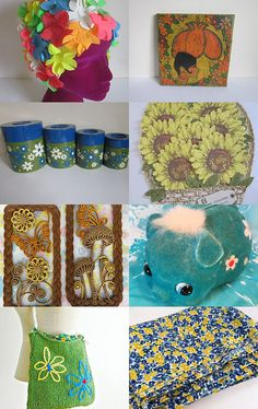 Flower Power by Pam on Etsy--Pinned with TreasuryPin.com