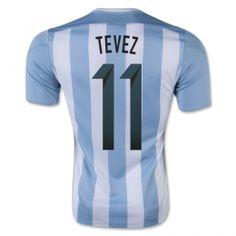 ad24a4f65 2015 Argentina Soccer Team Home Tevez  11 Replica Jersey 2015 Argentina Soccer  Team Home Tevez  11 Soccer jerseys