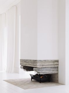 Fireplace by Fearon Hay Architects. Photo by Simon Wilson.