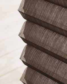 Hunter Douglas Alustra® Duette®  Architella® honeycomb shades push energy efficiency to a new level of style with exquisite woven textiles. #WindowTreatments