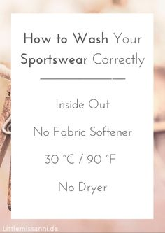 To keep your sportswear like new for a long time, there are some things you need to now when it comes to washing it. Anni shows you 4 easy tips!