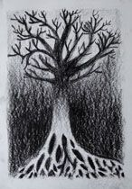 Age 12 ~ Drawing ~ Charcoal ~ Tree
