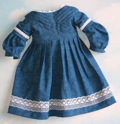 18 Inch Doll like American Girl Blue Floral Sarah by SewLikeBetty