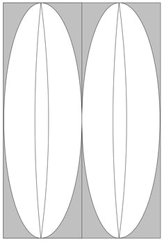 """Surfboard - based on 12x18  --  split in half and stack for 4"""" tier"""
