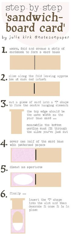 Step by step: Sandwich-board card