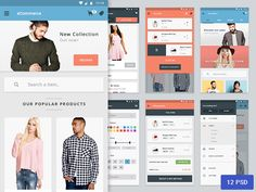 Materia is an UI Kit for Android based on Google Material design and released exclusively for Freebiesbug.