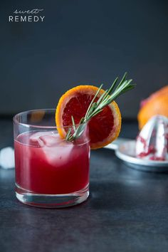 Blood Orange Rosemary Cocktail | Sweet-Remedy.com #cocktail #drinks #alcohol