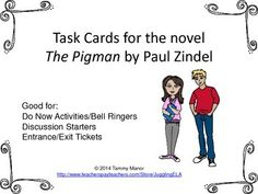 Worksheet The Pigman Worksheets rebel without a cause worksheets and the movie on pinterest task cards for novel pigman by paul zindel