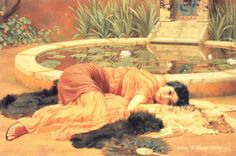 Dolce Far Niente  by John William Godward---this has been one of my favorites since I was a little girl (MLB)...neoclassicism, 1904, oil.