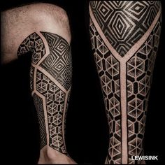 Finished this fun lower leg project for a snow lover ❄️. Thank you very much Yves, I had an awesome time tattooing you. #Tattoo #Blackwork #Dotwork #Geometry #Paris #Lewisink #Kinetink