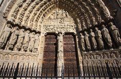Notre Dame - west front's central portal, depicting the Last Judgment