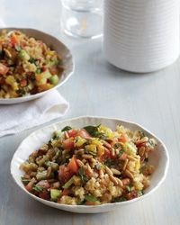 Quinoa Salad with Roasted Peppers and Tomatoes Recipe on Food & Wine