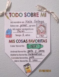 This is a great activity to get to know your students. This is a one page Spanish pennant banner perfect for first week of school. Once your students have completed the banners, string them together and hang them in the classroom or hallway. Great for: First day of school All about me activity Writing activity Open house Parent night, and so much more!