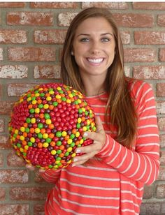 Skittle soccer ball-AAAAAAHHHHHHHHHHHHHHHHHHHHHHHHHHHHHHHHHHHHHHHHH!! Can not believe that is a thing, eek!