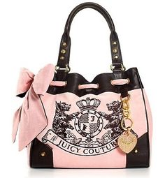 THIS IS THE PURSE I JUST LOVE, LOVE, LOVE!!!!!! Need I say more?   Juice Couture Scotty Embroidery Daydreamer Bag Pink [daydreamer030] - $62.00 : Juicy Couture Outlet Online: Cheap Juicy Couture Bags On Hot Sale