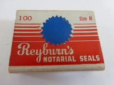 Vintage Reyburn's Blue Notarial Seals Size R by papertales on Etsy, $2.85