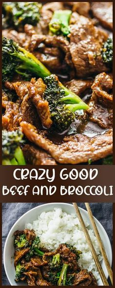 This beef and broccoli recipe is CRAZY GOOD. It's so easy and quick to make this authentic Chinese stir fry using flank steak seared on a skillet or wok. The sauce is simple to make and not spicy. This recipe for two yields the best beef and broccoli bowl Wok Recipes, Stir Fry Recipes, Frying Steak Recipes, Flank Steak Recipes, Clean Recipes, Seafood Recipes, Crockpot Recipes, Recipies, Chinese Stir Fry
