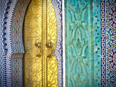Royal Palace Door, Fes, Morocco Photographic Print by Doug Pearson at AllPosters.com