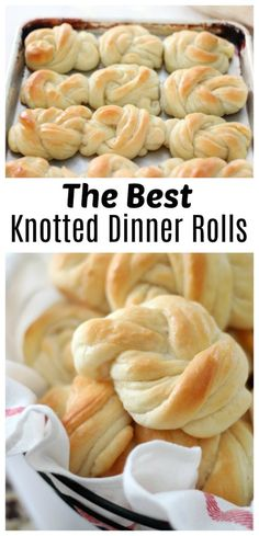 If you're looking for an amazing roll recipe for Thanksgiving or even a weeknight, these knotted dinner rolls are it. Buttery, soft, and so pretty when tied in a knot! Best Bread Recipe, Roll Recipe, Easy Bread Recipes, Easy Dinner Recipes, Baking Recipes, Great Recipes, Easy Meals, Favorite Recipes, Drink Recipes