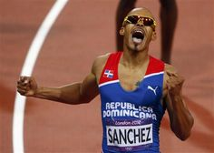 USC alumnus Felix Sanchez of the Dominican Republic recaptured the Olympic title he won in 2004 by holding off Michael Tinsley of the United States in the 400 meter hurdles final today.