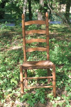 old ladder back chair
