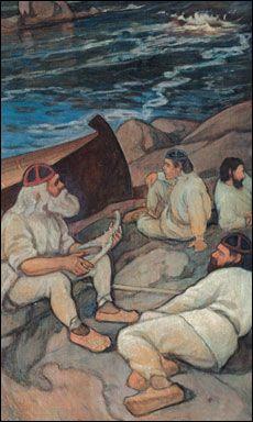 Kuvalähde: Kalevalaseura Scandinavian Paintings, Birches, Art Plastique, Figurative Art, Art History, Mythology, Vikings, Folk Art, Contemporary Art